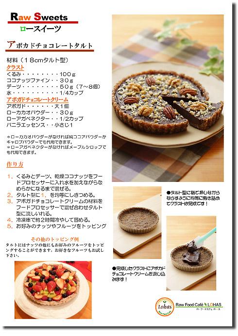 チョコレートタルト(ローフード)のレシピ